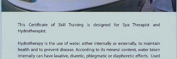 Hydrotherapy Course -- 2011 Jan (Melaka, Malaysia)