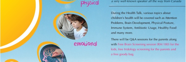 Health Talk : Let's talk about Your Child's Health