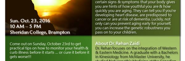 Healthy Aging Seminar w/Dr. Rehan Zaidi - Oct. 23rd